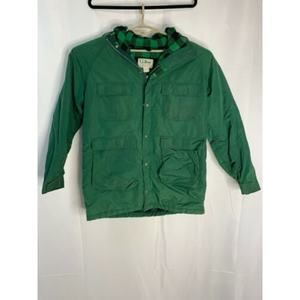 Vintage LL Bean Wool Lined Bright Green Hunting